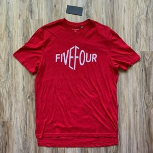 FIVE FOUR *NWT Red Short Sleeve T-Shirt - Large